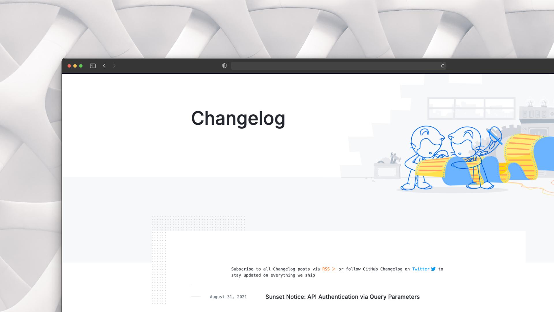 Github Changelog Screenshot