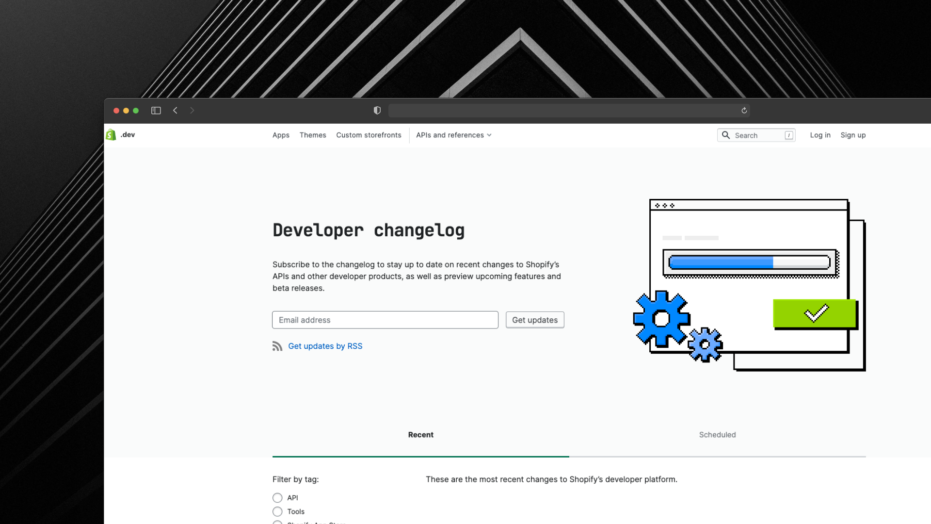 Shopify Dev Changelog Screenshot